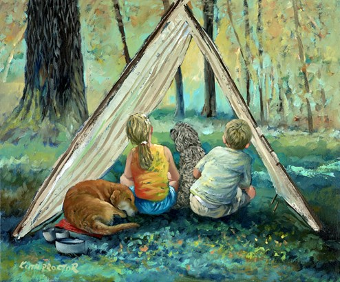 Staycation by Keith Proctor - Original Painting on Stretched Canvas